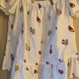 Zara Tops - Zara Fruit Print off the shoulder peplum Top